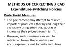 methods of correcting a cad expenditure switching policies2