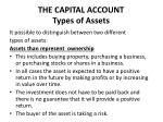 the capital account types of assets