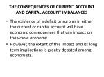 the consequences of current account and capital account imbalances