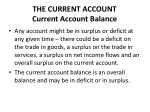 the current account current account balance1