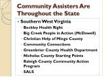 community assisters are throughout the state5