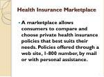 health insurance m arketplace