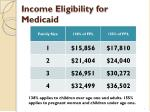 income eligibility for medicaid
