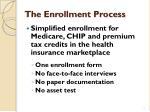 the enrollment process