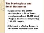the marketplace and small businesses