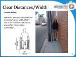 clear distances width