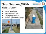 clear distances width4