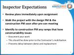 inspector expectations1