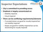 inspector expectations2
