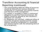 transferor accounting financial reporting continued2
