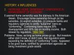 history 4 influences