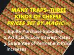 many traps three kinds of cheese prices set by magic