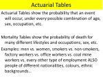actuarial tables