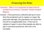 financing the risks