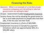 financing the risks1