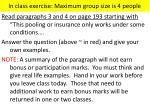in class exercise maximum group size is 4 people