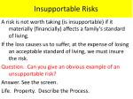 insupportable risks
