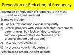 prevention or reduction of frequency