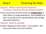 step 4 financing the risks