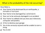 what is the probability of the risk occurring