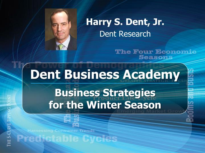 harry s dent jr dent research n.