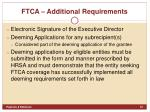 ftca additional requirements1