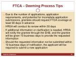 ftca deeming process tips1