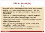 ftca privileging