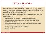 ftca site visits