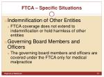 ftca specific situations