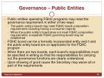 governance public entities