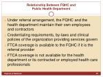 relationship between fqhc and public health department2