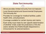 state tort immunity