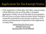 application for tax exempt status1
