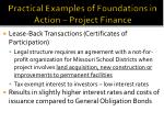 practical examples of foundations in action project finance