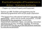 practical examples of foundations in action statutory authority