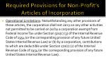 required provisions for non profit s articles of incorporation1