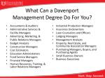 what can a davenport management degree do for you