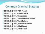 common criminal statutes