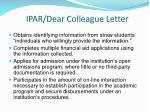 ipar dear colleague letter1