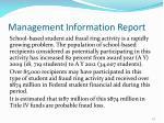 management information report