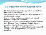 u s department of education facts