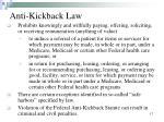 anti kickback law