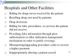 hospitals and other facilities