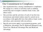 our commitment to compliance