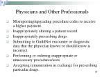 physicians and other professionals