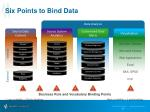 six points to bind data