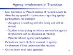 agency involvement in transition1