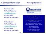 contact information www pattan net