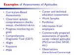 examples of assessments of aptitudes